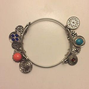coral & turquoise dangle bracelet