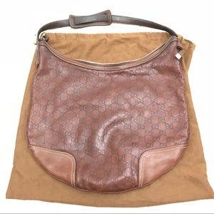 Leather Guccissima Hobo