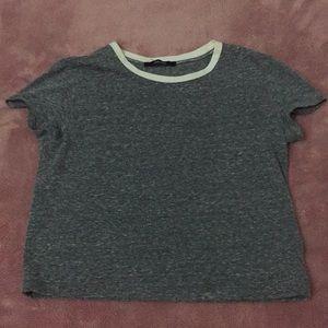 A crop top kinda shirt