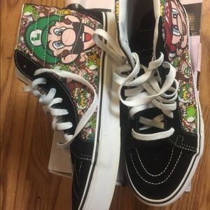 Mario brothers shoes size 9