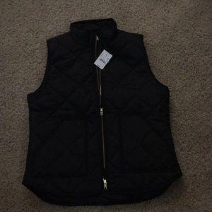 J. Crew factory black puffer vest