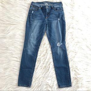 Old Navy Rockstar skinny jeans distressed 10