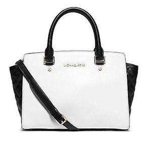 🆕Black and white Selma bag