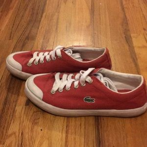 Size Red L33 75 Sneakers Shoes Poshmark Lacoste Canvas wX1xPq5Wp