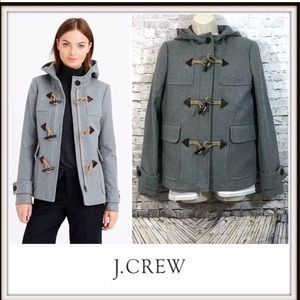 🧥 J. Crew Classic Duffle Melton Toggle Coat