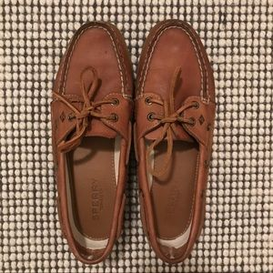 Sperry Brown Leather Boat Loafer and Shoe