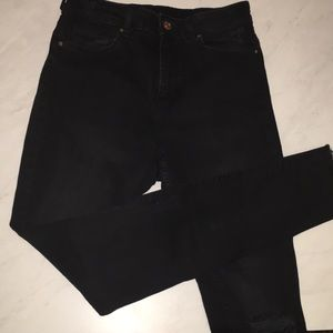 H&M high waisted black washes skinny jeans sz6