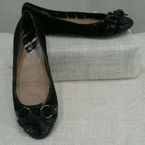 Sperry black Glitter ballet suede flats 9.5
