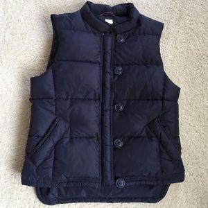 J. CREW Down-Filled Navy Blue Puffer Vest
