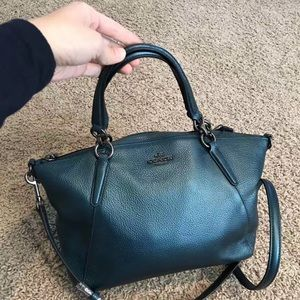 d03a474f39ef Coach Bags - Coach Small Kelsey Satchel Metallic Pebble Leather