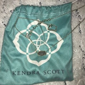 Kendra Scott Elisa Gold Necklace In Platinum Drusy