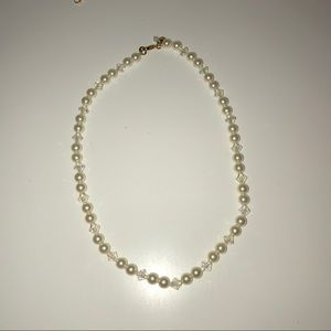 Diamond and Pearl Ivory Necklace