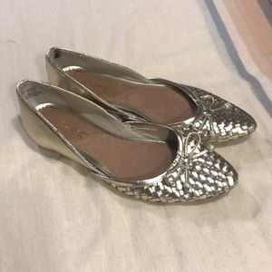 Sorry Top Sider Gold Flats