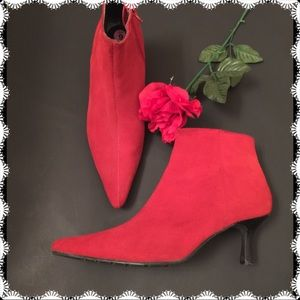 Sassy Red Booties by Pazzo