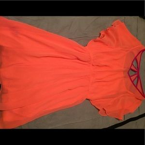 Express beautiful neon sun dress size XS