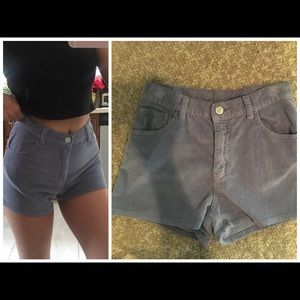 Brandy Melville blue Corduroy high waisted shorts