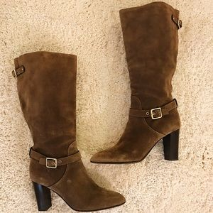 Coach Brown Suedo Boots Size 11