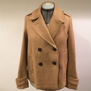 Quality wool short peacoat S
