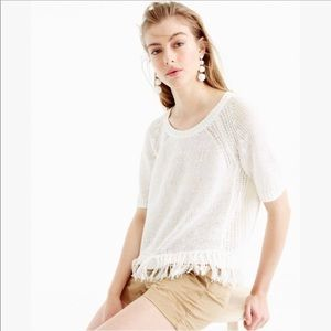 💗J.Crew fringy sweater💗
