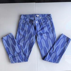 J. Crew Stretch Skinny Blue Jean Pants