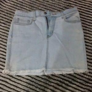 Lulu's mini denim skirt