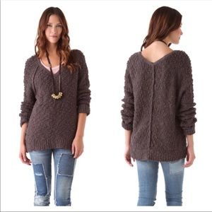 Free people knit brown sweater