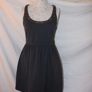 Cynthia Rowley Gray Racerback Dress w/ Silver Stud
