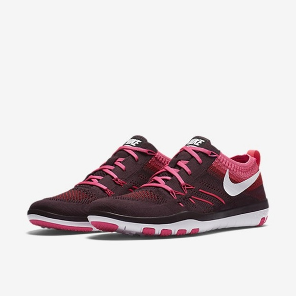 6d5cef9a5a93d1 Nike Free Focus Flyknit in Pink Red