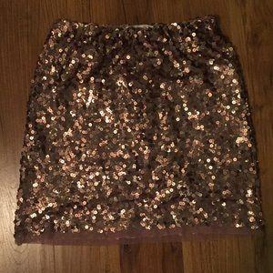 Bronze Midi Sequin Skirt