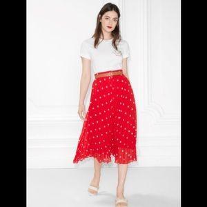 French inspired Polka dot midi skirt. NWOT.