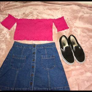 Denim Button Up Skirt!