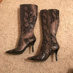 Never used Nine West Snake-print Boots
