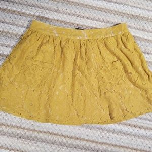 Tinley Burnt Yellow Mini Skirt Back Zip Lined