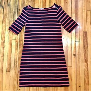 Gap Navy / Pink Striped Dress