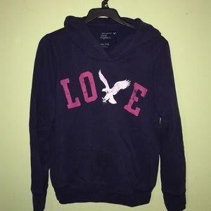 XXL American Eagle Hoodie Used Blue Love