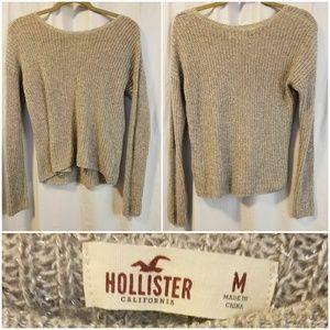Hollister sparkle silver sweater