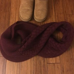 Merlot colored infinity scarf