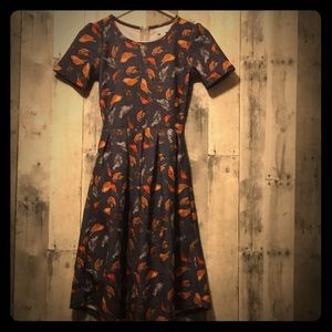 Lularoe Amelia Bird Dress UNICORN