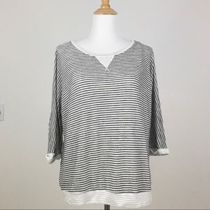 Dress Barn | Gray Striped Long Sleeve