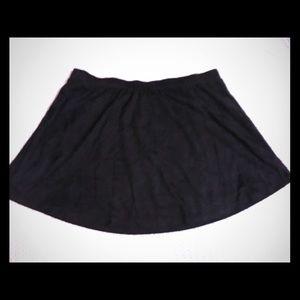 Flowy mini skirt geometric cut out