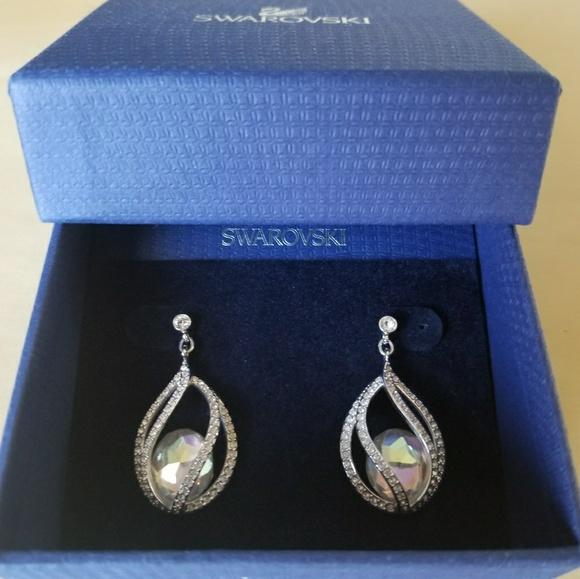 c5ffca4d6 Swarovski Women Megan Pierced Earrings. M_5a2e03d0f0137df181025613