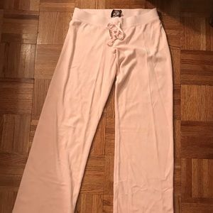 JUICY COUTURE pink velour bootcut sweatpants