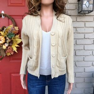 Vintage cream button front cardigan