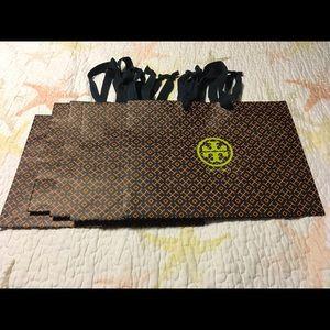 Bundle of SIX Tory Burch Shopping Tote Bags