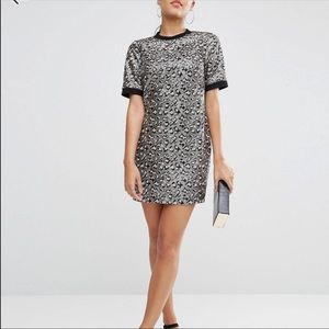ASOS cheetah sequin print dress