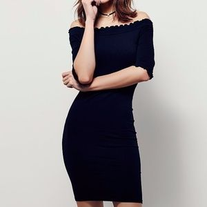 NEW Free People Risa Bodycon Black Dress