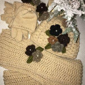 ✨ Vintage Set | Hat | Gloves | Scarf