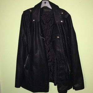 Forever 21 OX Pleather Jacket Heavy