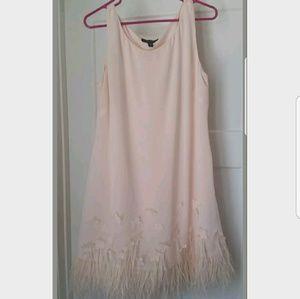 Jessica Simpson Feather shift dress