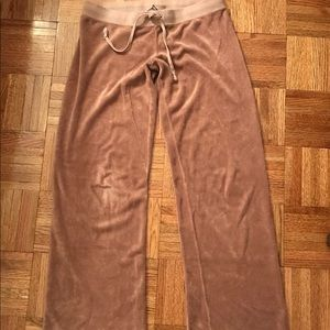 JUiCY COUTURE brown terry bootcut sweatpants